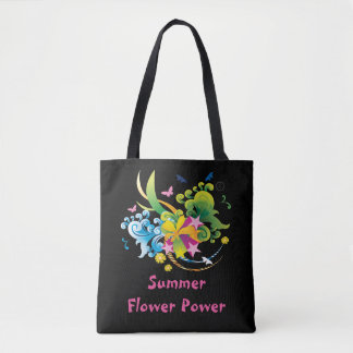 Summer Flower Power All-Over-Print Tote Bag