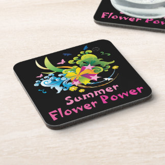 Summer Flower Power Coasters (set of 6)