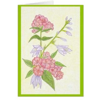 Summer Flowers Blank Card