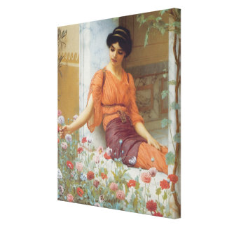Summer Flowers by John William Godward  Wrapped Ca Stretched Canvas Prints