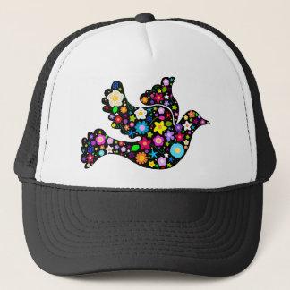 Summer Flowers Dove Trucker Hat