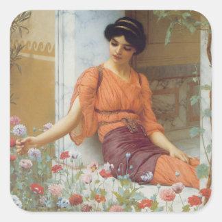 Summer Flowers, Godward Square Sticker