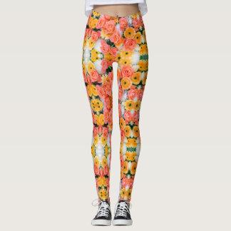 summer flowers leggings