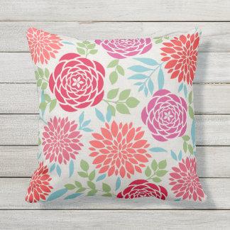 Summer Flowers Pattern Outdoor Cushion