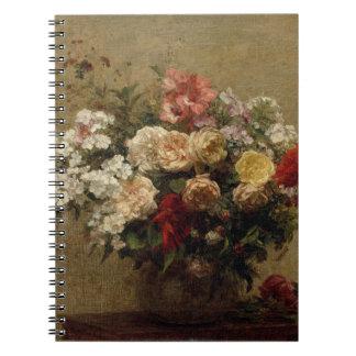Summer Flowers - realism Spiral Notebook