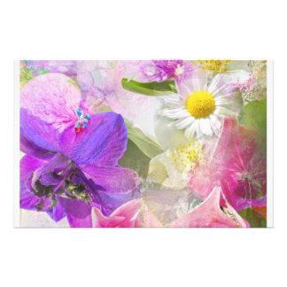 Summer flowers stationery