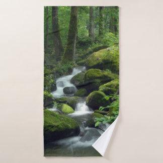 Summer Forest Brook Bath Towel