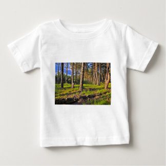 Summer forest in the evening light baby T-Shirt