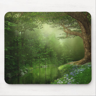 Summer Forest River Mouse Pad