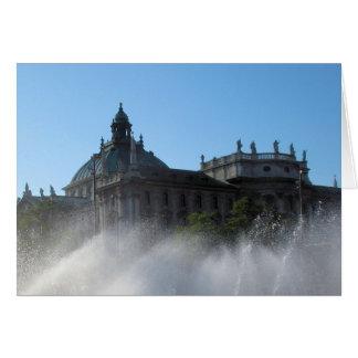 Summer Fountains  -  Munich, Germany Card