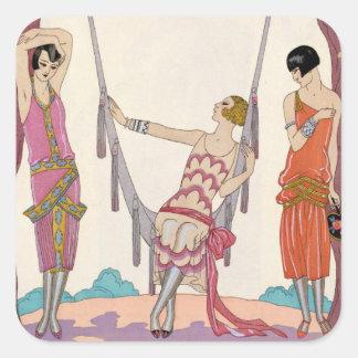 Summer, from 'Gazette du Bon Ton', 1925 Square Sticker