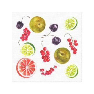 Summer fruit watercolor. canvas print