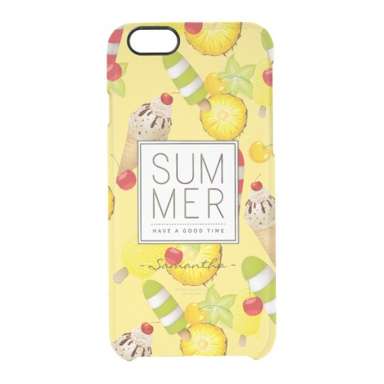 Summer Fruits and Ice-Cream Fun Clear iPhone 6/6S Case