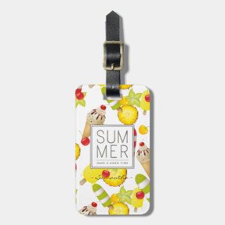 Summer Fruits and Ice-Cream Fun Luggage Tag