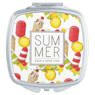 Summer Fruits and Ice-Cream Fun Mirror For Makeup