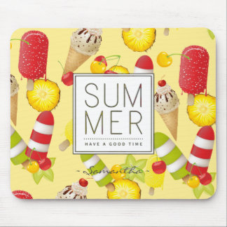 Summer Fruits and Ice-Cream Fun Mouse Pad