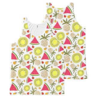 Summer fruits pattern Unisex Tank Top
