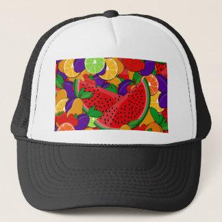 Summer fruits trucker hat