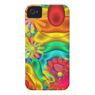 Summer fun, abstract / floral iPhone 4/4s case