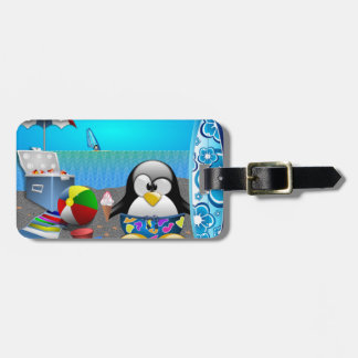 SUMMER FUN AT THE BEACH LUGGAGE TAG