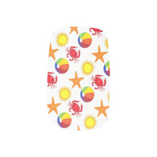 Summer Fun Beach Ball Starfish Sun Crab Ocean Minx Nail Art