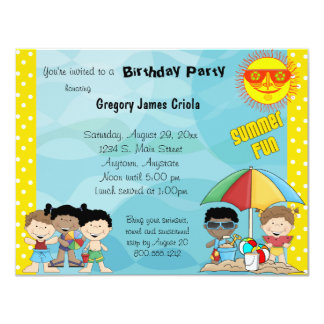 Summer Fun Birthday Invitation