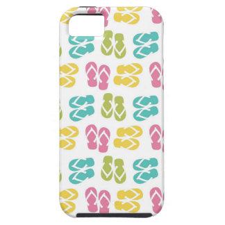 Summer fun brown flip flop sandal pattern iPhone 5 cases