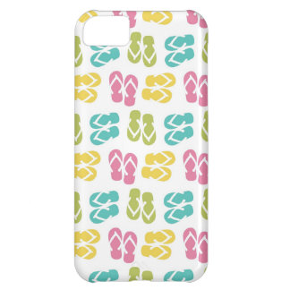 Summer fun brown flip flop sandal pattern iPhone 5C case