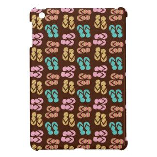 Summer fun brown flip flop sandal pattern cute iPad mini case