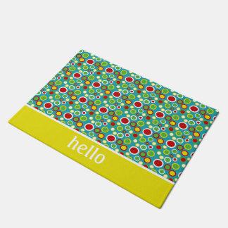 Summer Fun Bubble Polka Dots Personalized Doormat