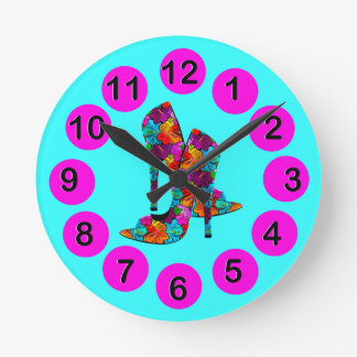 Summer Fun High Heel Shoes Wallclock
