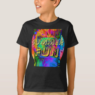 Summer Fun! Kids Black Tie-Dye T-Shirt
