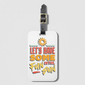summer fun luggage tag