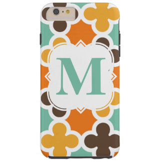 Summer Fun Monogram Retro Quatrefoil Pattern Tough iPhone 6 Plus Case