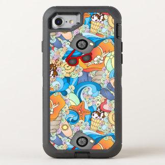 Summer Fun Pattern OtterBox Defender iPhone 8/7 Case