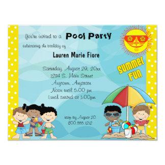 Summer Fun Pool Party Birthday Invitation