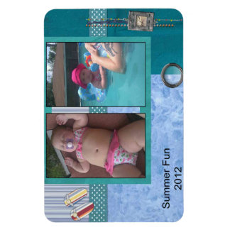 Summer Fun Rectangular Photo Magnet
