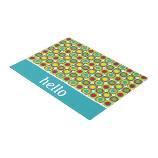 Summer Fun Square Tiles Personalized Doormat