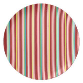 Summer Fun Stripes Plate
