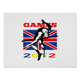 Summer Games 2012 High Jump Track and Field Poster