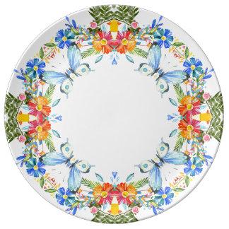 """Summer garden 10-75"""" Decorative Porcelain Plate"""