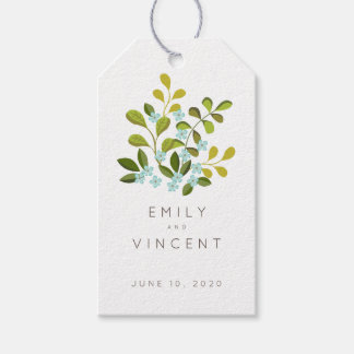 Summer Garden Floral Wedding Suite Favor Tag
