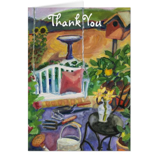 Summer Garden Patio Thank You Card