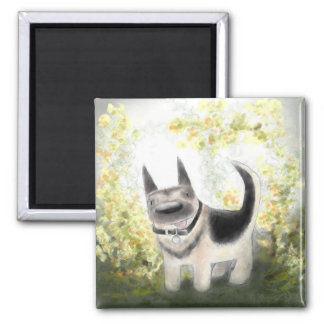 Summer German Shepherd Pup Magnet