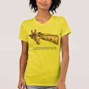 Summer Giraffe Watercolor Perception Quote T-Shirt