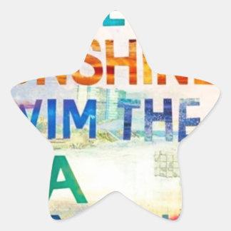 Summer Girl Star Sticker