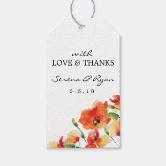 Summer Golden Poppy Wedding Gift Tags