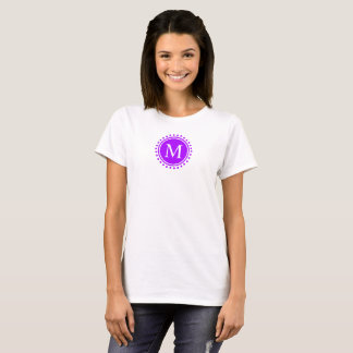 Summer Grape and White Polka Dot Monogram T-Shirt