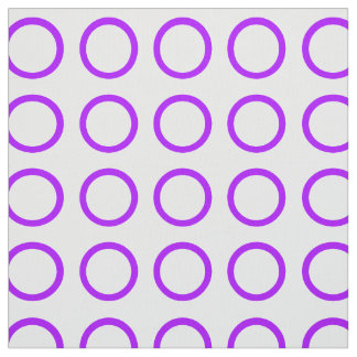 Summer Grape Rings on White Fabric