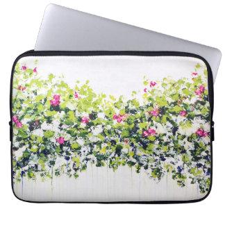 Summer Green Floral Laptop Sleeve